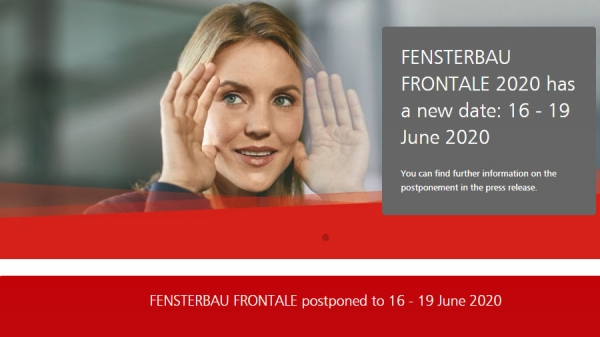 New date 2020 for FENSTERBAU FRONTALE and HOLZ-HANDWERK